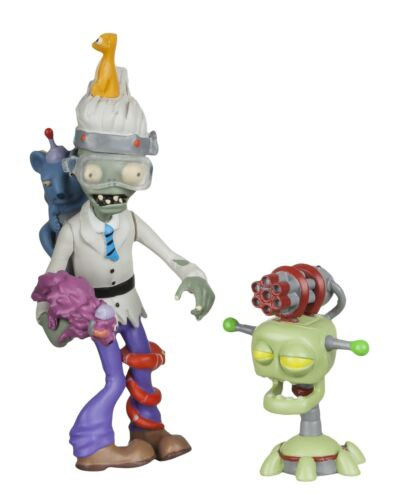 "Plants vs Zombies GW2-3/"" Zoologist Figure with Laser Turret"