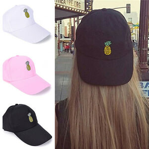 Chapeau-a-broderie-ananas-chapeau-de-baseball-reglable-casquette-hip-hop