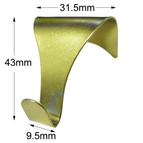 Picture Rail Moulding Hooks Brass /& Nickel Dado Frame Mirror Wall Hanging Hang