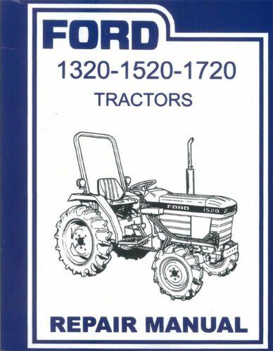 OEM Repair Maintenance Shop Manual Bound Ford Tractor 1320-1520-1720 1984-1995