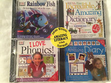 DK INTERACTIVE 4 CDs: Rainbow Fish, Amazing Dictionary & Diary & I Love Phonics!