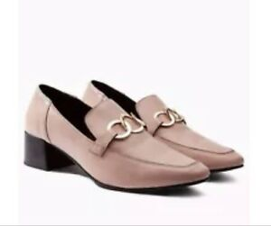 Next Pink Chain Leather Loafers 8/42