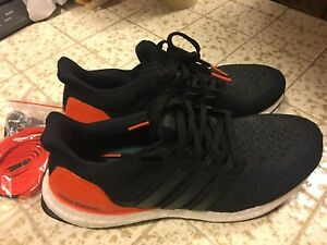 32f00802c4f6f ADIDAS Ultra Boost Black Orange LE SF Giants Sneaker Shoes BB0801 ...