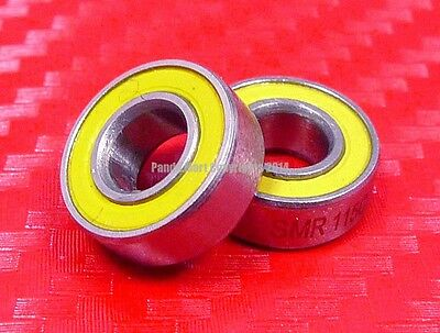 QTY 4 S695-2RS Hybrid Ceramic Ball Bearing Bearings ABEC-3 YELLOW 5x13x4 mm