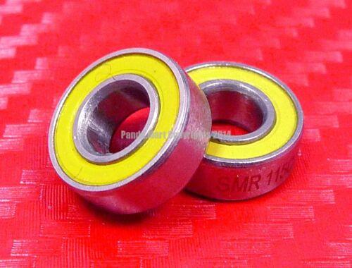 QTY 4 SMR115-2RS CERAMIC 440c S.Steel Ball Bearing MR115RS ABEC-3 5x11x4 mm