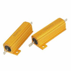 2x 50W 20 Ohm Hochlast Widerstand Leistungswiderstand Kühlkörper Lastwiderstand