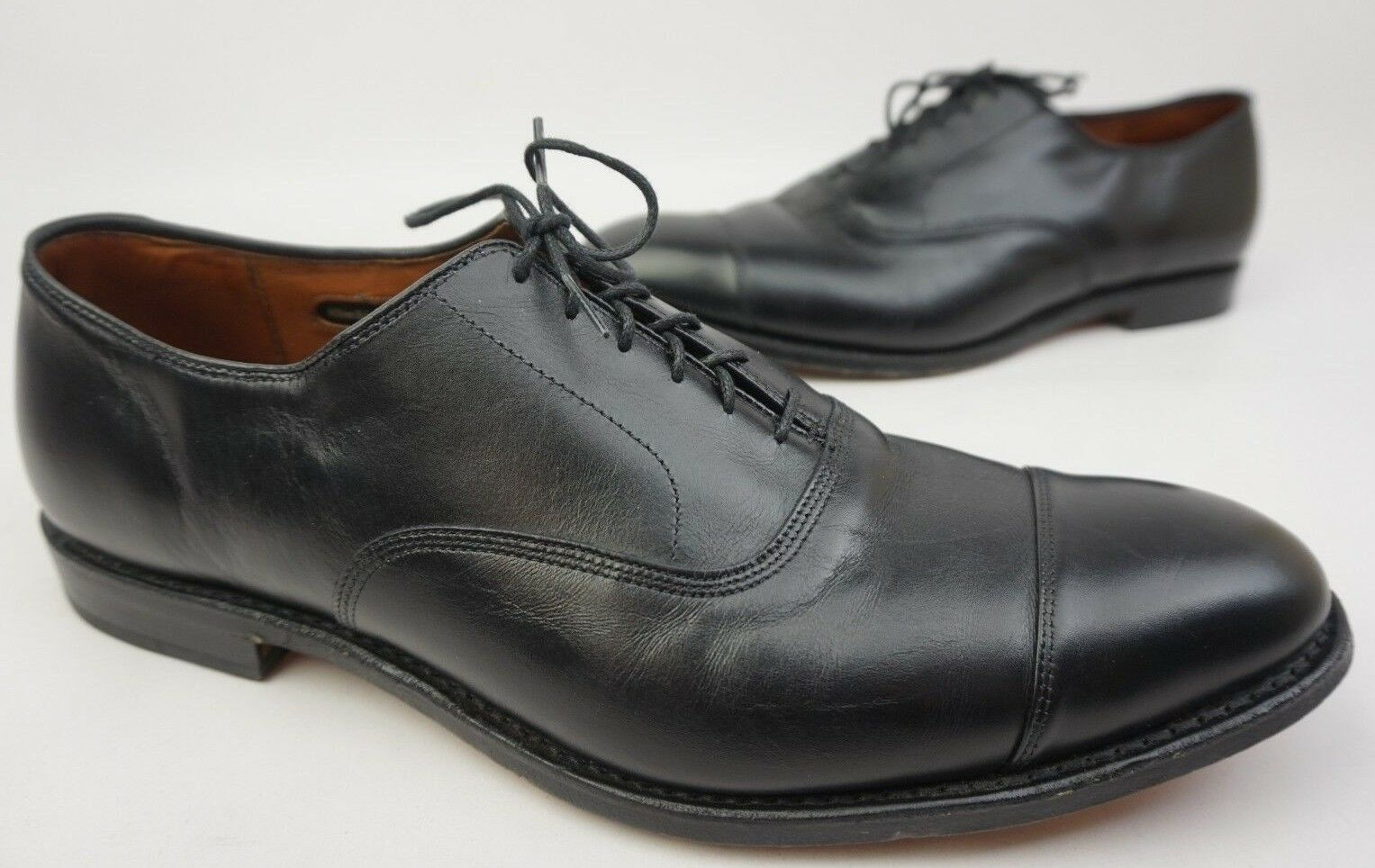 Allen Edmonds Park Avenue Negro Cuero Oxford Zapatos Talla 15 d  385