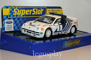 Slot-SCX-Scalextric-Superslot-H3493-Ford-RS200-Blomqvist-Rally-Sweden-S3493