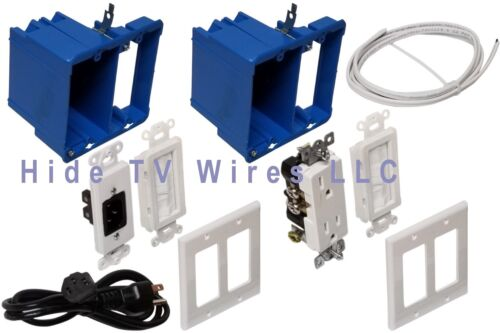 FAST FREE SHIPMENT Hide TV WIres Kit In-Wall Power and Cable Management Kit