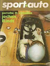 SPORT AUTO 87 1969 GP AFRIQUE DU SUD SAN REMO DE TOMASO MANGUSTA FLAVIA & FULVIA