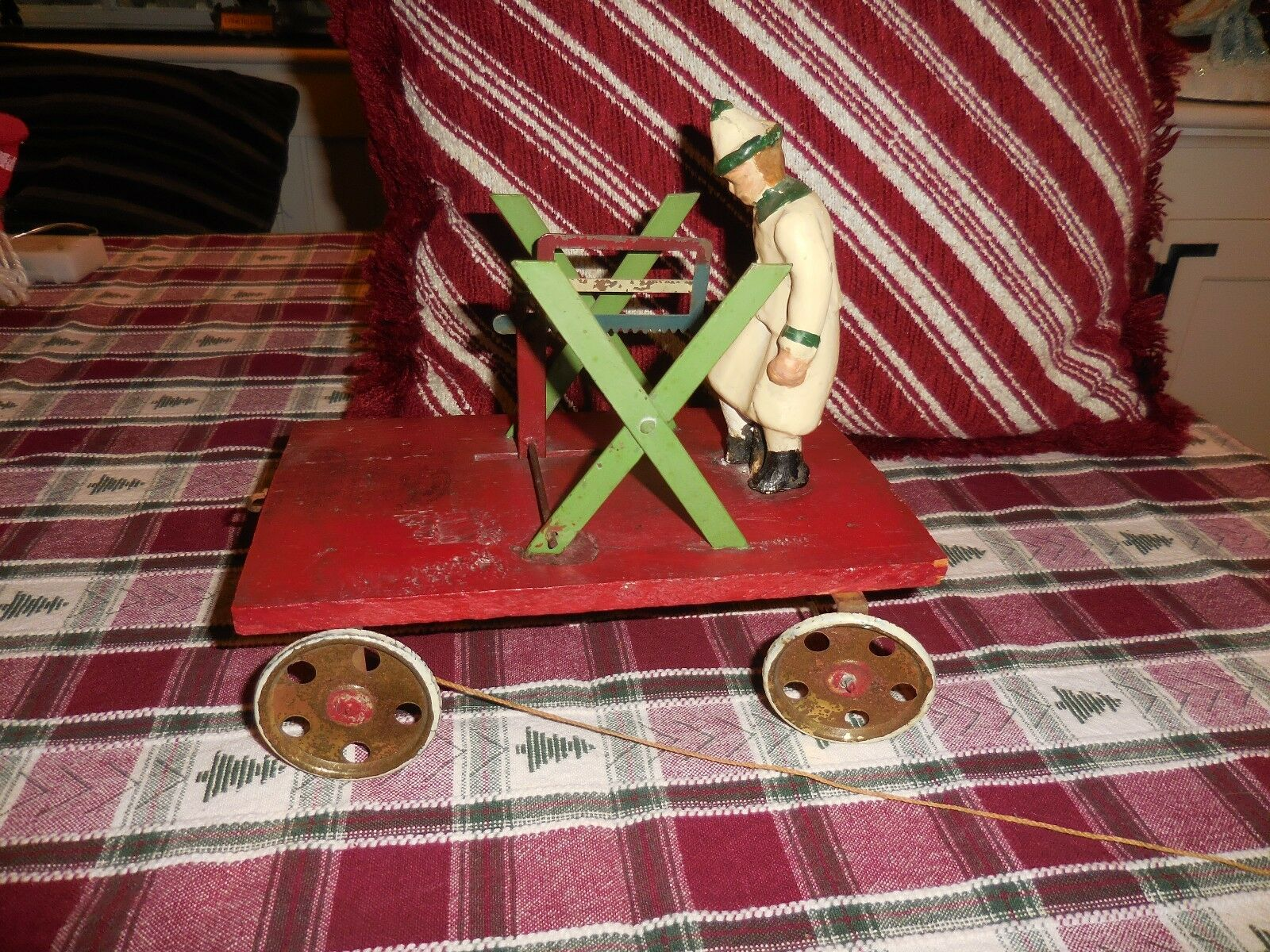 Vintage Vintage Vintage Early 1920's German Made Pull Toy Working Condition 8 1 8  Long 9fad2b