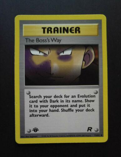 The Boss/'S WAY 1 EditionTeam RocketNEAR MINTEnglishCarta Pokemon