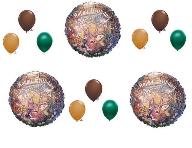 DEER HUNTING BIRTHDAY PARTY BALLOONS Decorations Supplies Camouflage Hunter Man