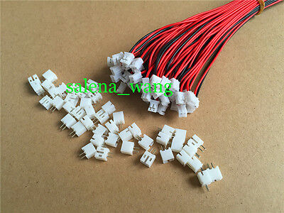 20 SETS Mini Micro JST 2.0 PH 2-Pin Connector plug with Wires Cables T 150mm