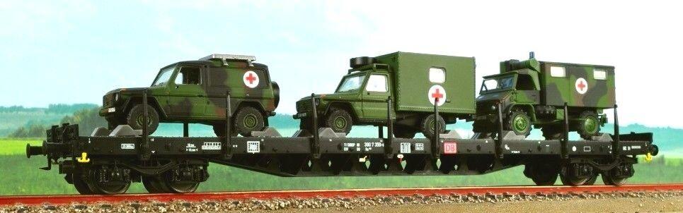 MÄRKLIN 47015 DB Mezzi Militari trasportati  Croce Rossa   4MFOR - Scala 1 87