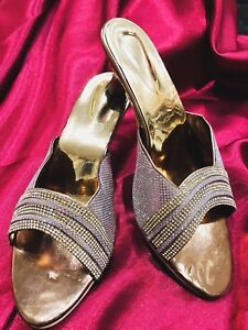 4d1bd005b D25 Size 4 Ladies Indian Bollywood Fancy Bridal Shoes Heels Sandals ...