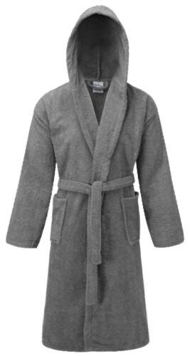 100 /% Cotton Terry Mens Ladies Dressing Gown Towelling Robe Bath Bathrobe Hooded