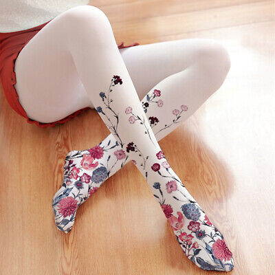 Cute girls women Paper Crane Printing Lolita velvet Tights Pantyhose cosplay 80D