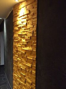 1 m spaltholz riemchen wandverkleidung verblender holzfliese klinker holz ebay. Black Bedroom Furniture Sets. Home Design Ideas