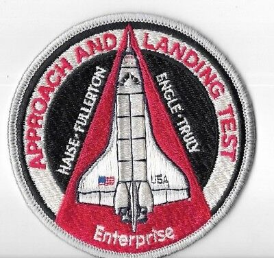 Historical Memorabilia Beautiful Alt Approach And Landing Test Enterprise Sts Shuttle Iron On Patch Nasa Rare Easy To Repair