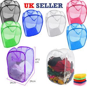 Laundry-Bag-Pop-Up-Mesh-Foldable-Washing-Basket-Bin-Hamper-Toy-Cloth-Storage-NEW