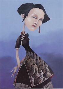 RARE-Chinese-Beauty-Fantasy-girl-in-dress-by-Balashko-Russian-modern-postcard