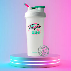 Blender-Bottle-Special-Edition-28-oz-Shaker-with-Loop-Top-Tropic-Like-It-039-s-Hot