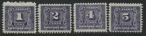 Canada-1930-1-cent-to-5-cents-Postage-Due-mint-o-g