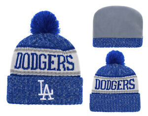5c2ce6273 Details about New Era MLB Los Angeles Dodgers Beanie Cuffed Winter Knit Cap  w/Pom