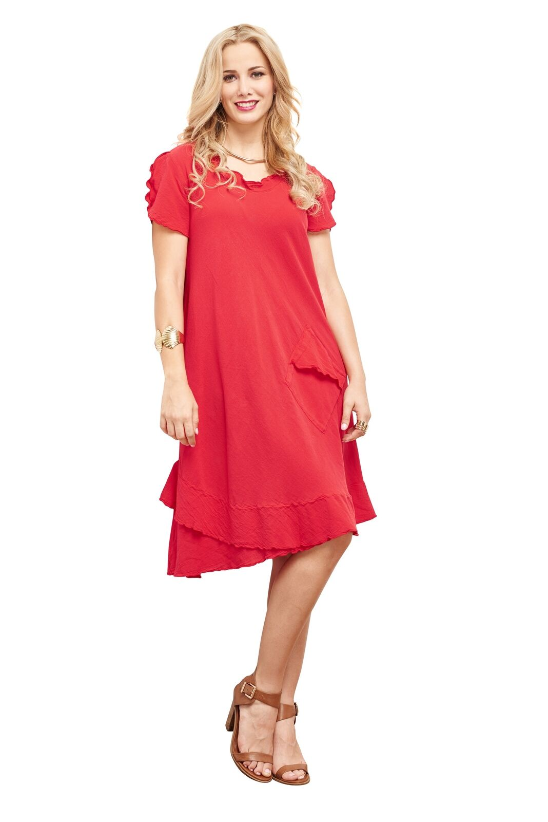 Oh My Gauze LA Dress 100% Comfortable Cotton Lagenlook