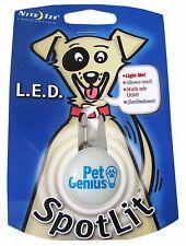 Pet Genius Dog Nite Ize LED SpotLit NSL-03-02 Safety Light Bright White Lot of 6