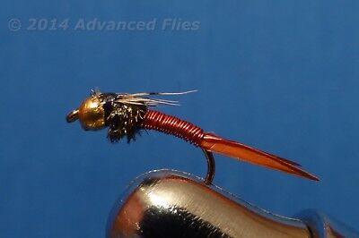 1 dozen BH Pheasant Tail #12 Nymph Trout Fly Fishing Flies Bead Head NIB