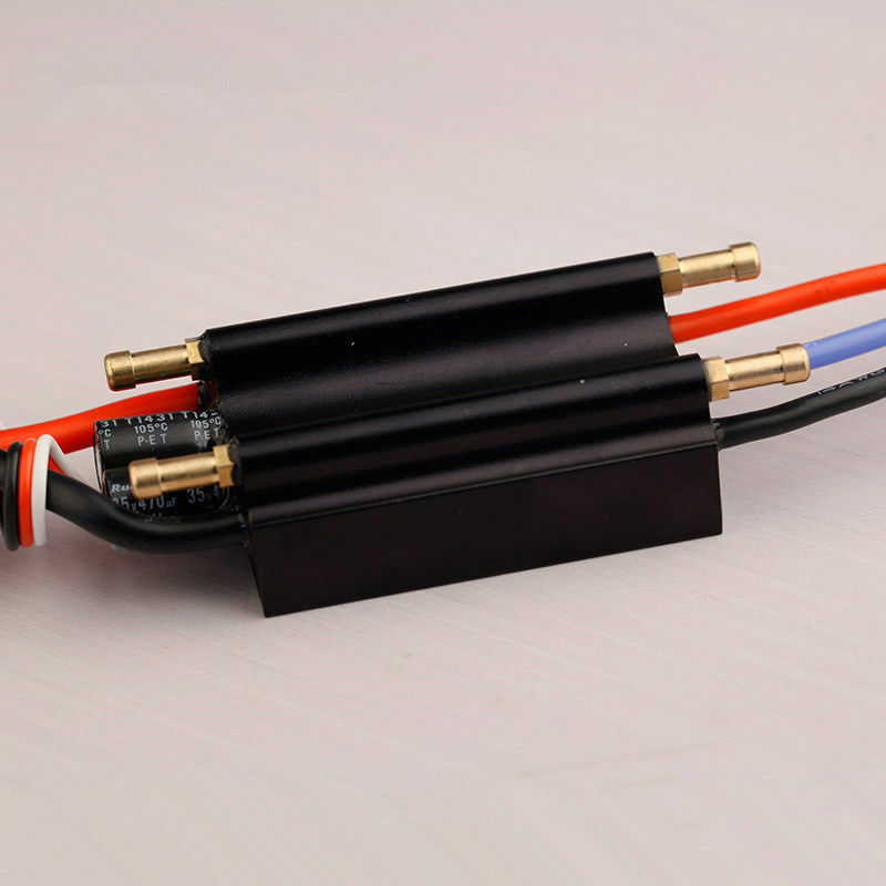 1666 30A 50A 70A 120A Brushless ESC Alloy Water Cooling Speed Control RC Boat