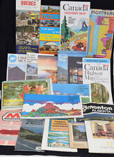 Vintage Lot Canada Road Maps Guides 1970-80s Quebec Montreal Alberta Ontario