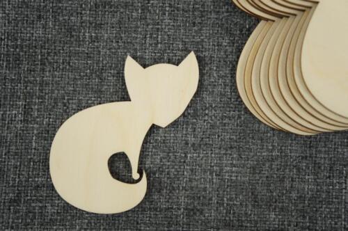 10 Stk. Fuchsaus Holz Tiere Form Basteln Dekoration Malen Aufhängen /KV74/
