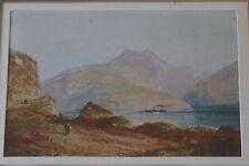 Louis Thomas 1892-1989 artista francese Acquerello VECCHI mercantili in Canal