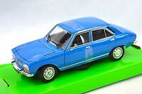 PEUGEOT 504 1975 WELLY 24001 1:24 BLUE NEW DIECAST MODEL  CAR