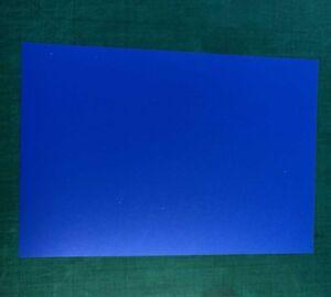 2 x A4 MID BLUE Polypropylene Plastic Sheets 0.5mm Model Making, Art, Craft