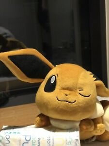 Brand-New-Eevee-Pokemon-Pikachu-Japan-Authentic-Soft-30cm-Laying-Down-Winking