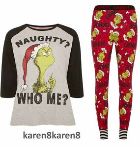 various colors search for latest attractive designs Details about Primark THE GRINCH CHRISTMAS Pyjamas Ladies Womens Pajamas