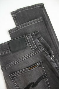 NUDIE-JEANS-GRIM-TIM-FADED-BLACK-Men-039-s-W29-L32-Stretch-Slim-Jeans-2286-mm
