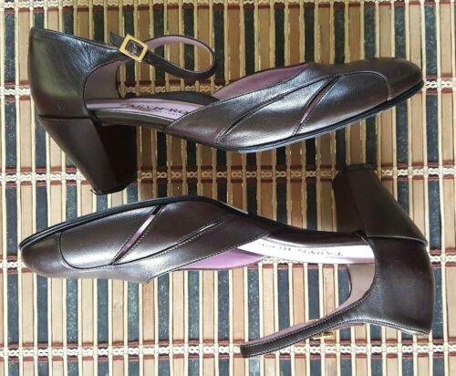 Toe Out 8 Leather 38 Rose Ankle Shoes Brown Round Cut Women's Heels Taryn Strap zBw0gqWpqf