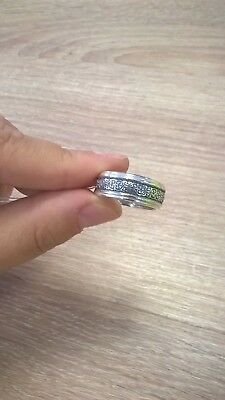 "Orthodox Silver Ring ""Holy mother of God save me"""
