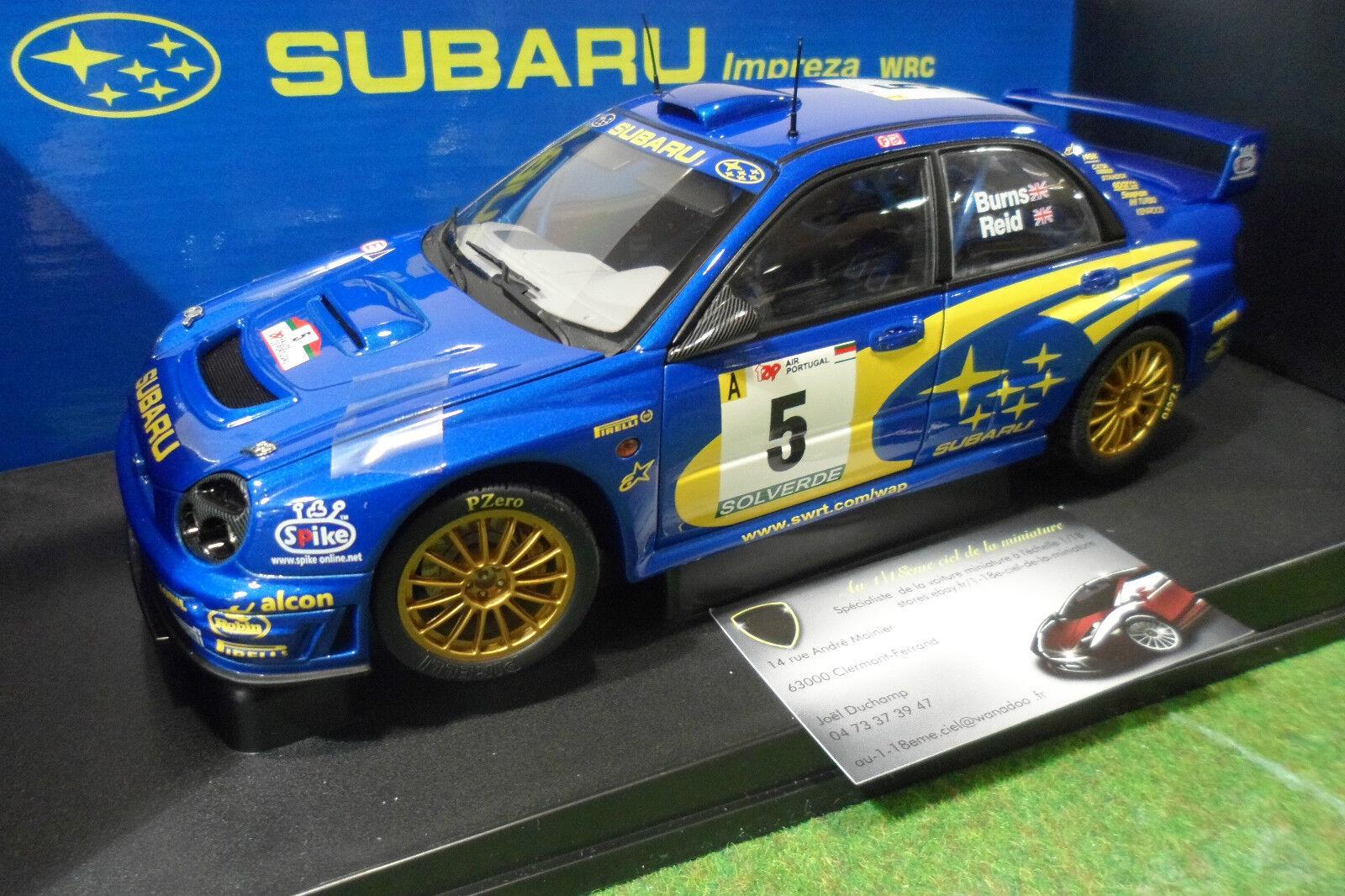 SUBARU IMPREZA WRC  5 RALLYE PORTUGAL 2001 Bleu Burns Reid 1 18 AUTOart 80191