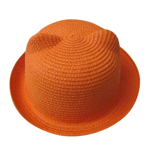 Baby Kids Girl Straw Boater Hat Summer Beach Sun Boonie Cap Headwear Breathable