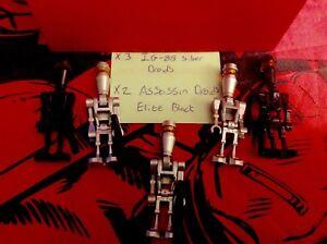 Star Wars lego mini figure BLACK ASSASSIN DROID X2 IG88 8015 7930 8128