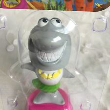 Funny Solar Smiling Great White Shark Bobble Head Lei Hawaiian Toy Watch Video