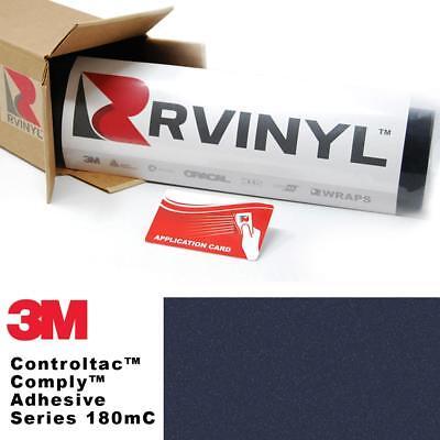 3M 180mC Controltac Petroleum Blue Metallic 247 Vinyl Film Wrap Craft Sheet Roll