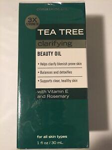 Tea Tree Facial Oil Anti Blemish Clarifies  Balances & Detoxifies 3x Strength