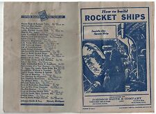 1935 Booklet How To Build a Rocket Ship